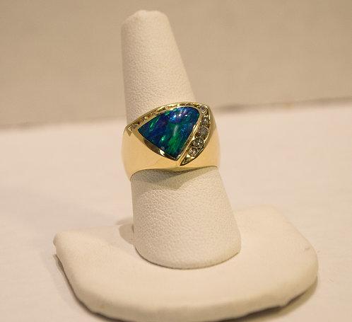 14K Gold Opal
