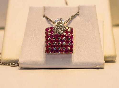 18k/14k Diamond Ruby Pendant