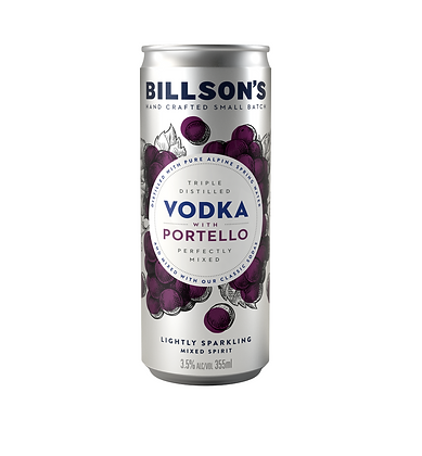Billsons Vodka & Portello Can 355ml x 4