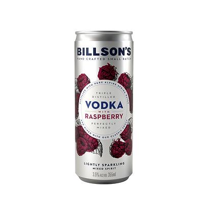 Billsons Vodka & Raspberry Can 355ml x 4