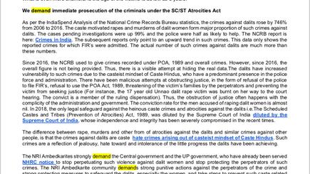International Ambedkarite organizations condemn growing castes atrocities in India