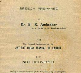 The relevance of Annihilation of Caste in today's scenario