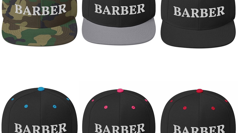 Barber Snapback Hat