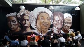 Mural no Centro de Culturas negras do Jabaquara 2019