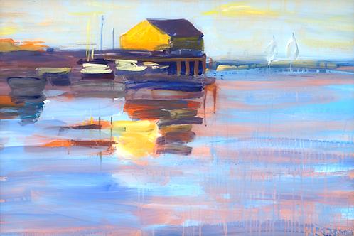 Sunset Wharf Notecard