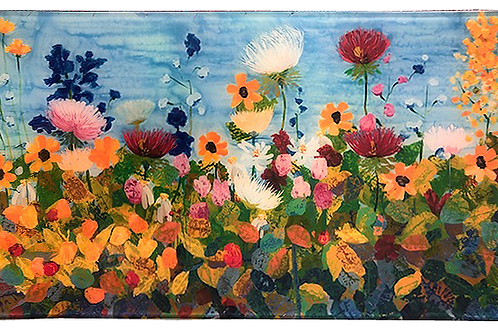 Field of Flowers - Rectangle Glass  8 x 14