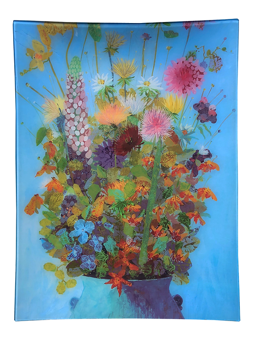 Garden Pot - Rectangle Glass 16 x 12