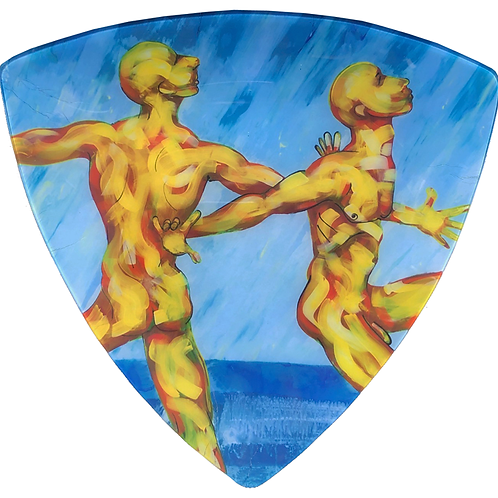 Dancers - Triangle Glass 10 x 10