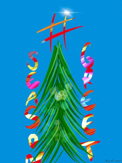 Hashtag Christmas Tree