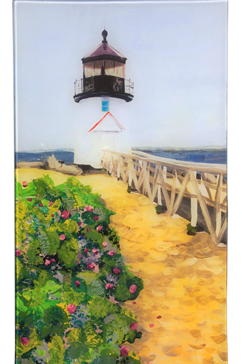Brant's Lighthouse - Rectangle Glass 14 x 8