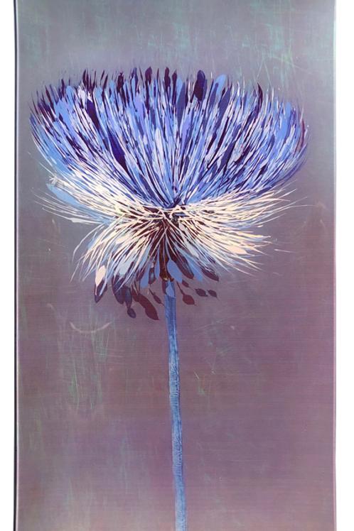 Blue Button - Rectangle Glass 14 x 8