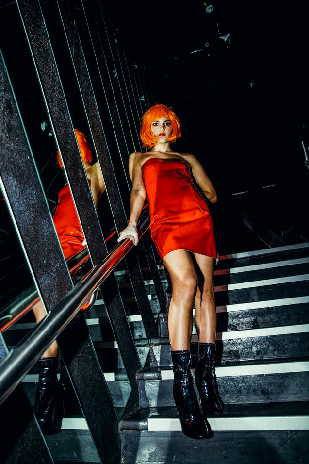 ruby ryan photo photography photographer club girl wig latex bar dancefloor untz
