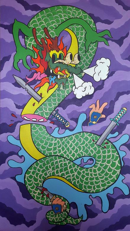 Dragon In Battle