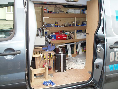 All our vans have equipment on the go. Saving you time!
