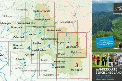 Wanderkarte Bergisches Land Blatt 3 Osten