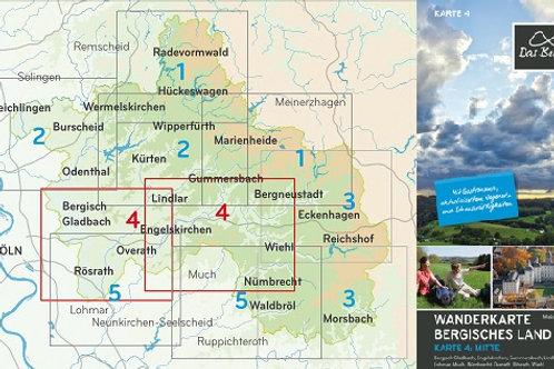 Wanderkarte Bergisches Land Blatt 4 Mitte