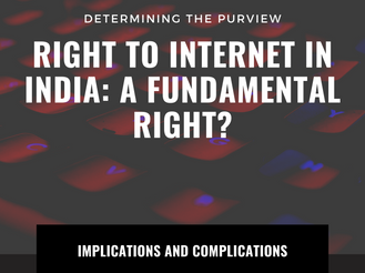 RIGHT TO INTERNET: A fundamental right?