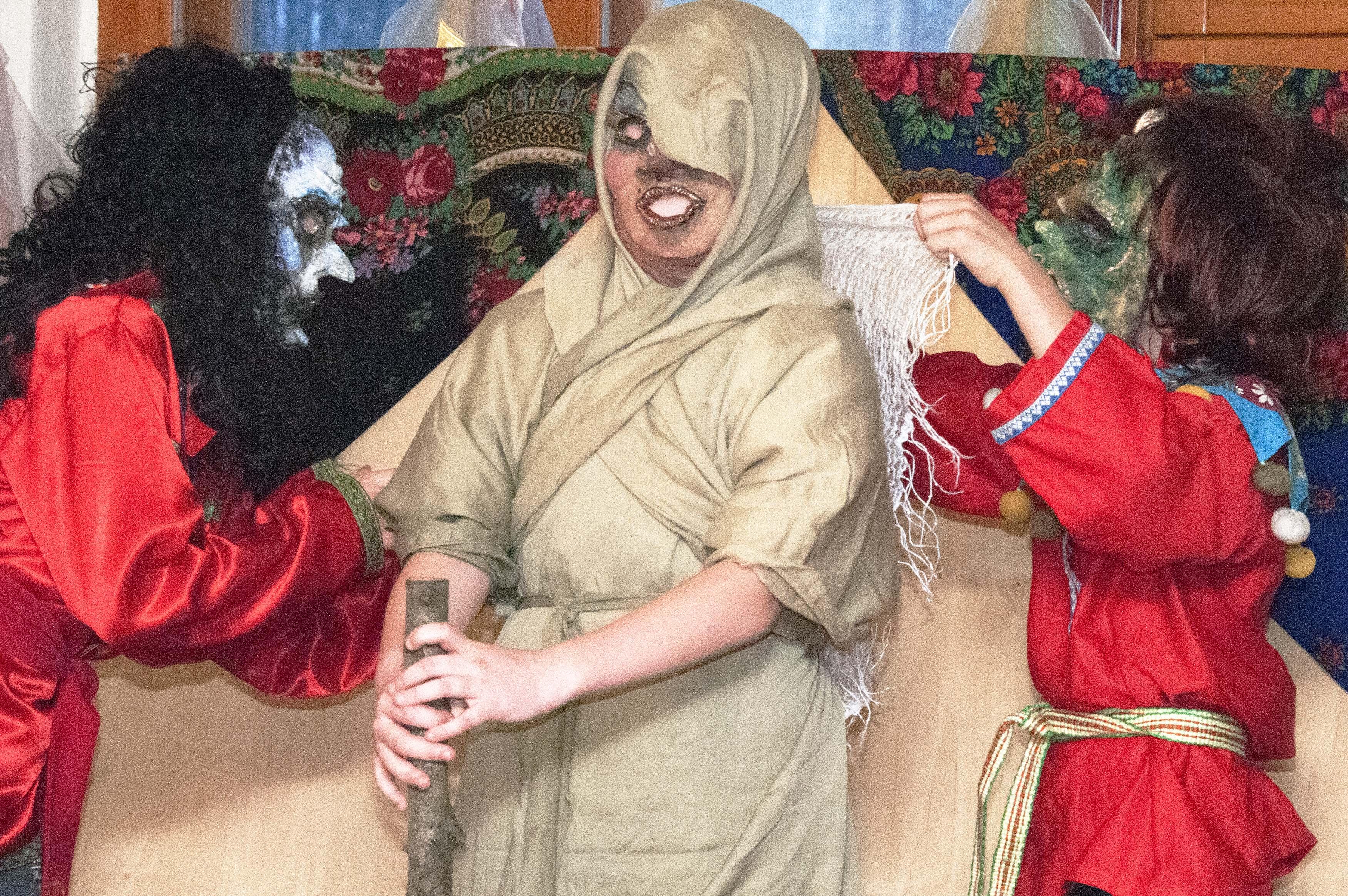 Баба-яга и её помошники.