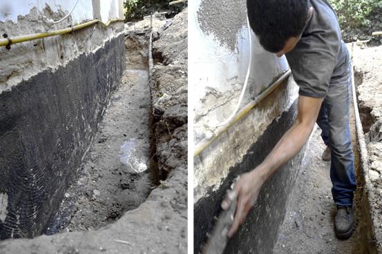 הכנת תשתית קיר תת קרקעי לאיטום