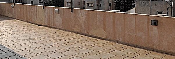 רצפת מרפסת שאינה אטומה