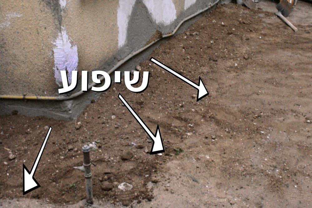 כיסוי קירות תת קרקעיים בשיפוע מרחיק מהקיר