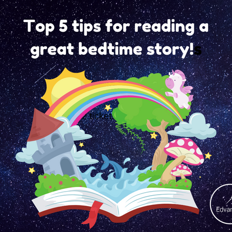 Top 5 tips for reading a great bedtime story!