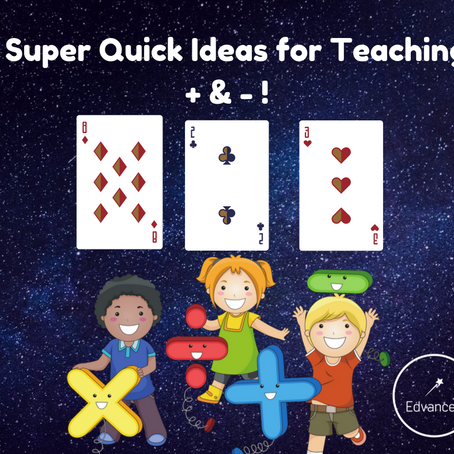 4 Great Ideas for Teaching + & - Using a Pack of Cards!
