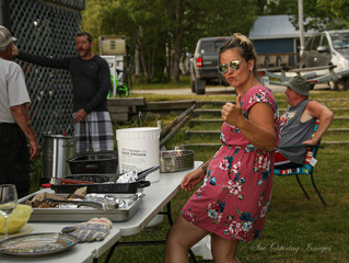 THUMBS UP FOR OUR ANNUAL FISH FRY. Everyone joins in our fish derby, then we have a feast.