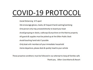 I've added some proactive conditions around boarding & picking up boats due to Covid-19 in t