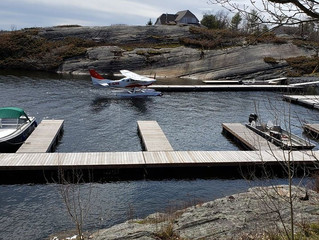 It's not every day we have a plane land in th cove.