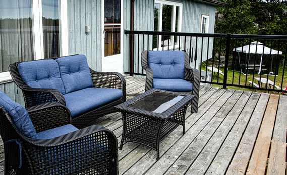 relax on the deck in this comfy furnitur
