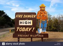 FIRE RATING HIGH    Please be careful and always put your fire out.