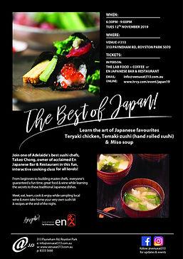 Japanese food, sushi, teryaki cooking