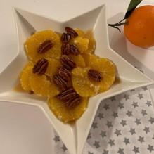 Salade d'oranges aux noix de pécan