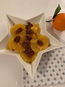 Salade d'oranges et noix de pécan