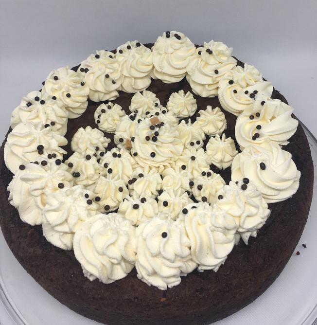 Gâteau au chocolat et sa chantilly