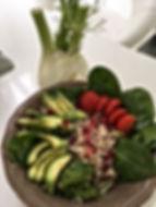 Salade quinoa avocat fenouil