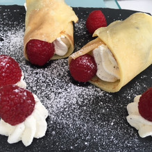 Crèpes framboises chantilly mascarpone