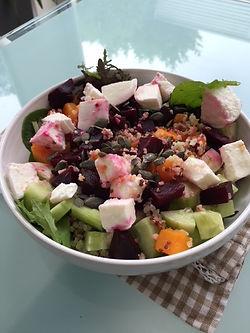 Salade de quinoa, betteraves, butternut