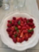 Salade fraises framboises