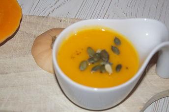 Velouté butternut, graines de courges