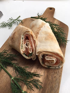 Wrap saumon, aneth, fromage frais