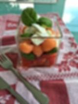 salade tomates melon mozza