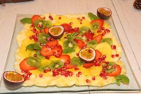 Carpaccio de fruits frais