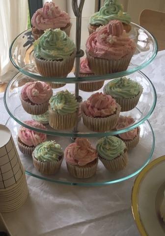 Cupcakes vanille framboises