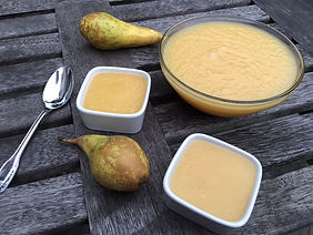 Compote de poires au sirop d'agave