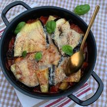 Gratin d'aubergine au parmesan
