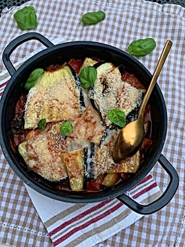 Gratin d'aubergines au parmesan