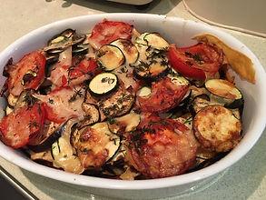 Gratin tomates, aubergines
