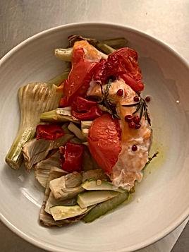 Papillotte de saumon au fenouil